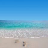 Footprint on the beach Royalty Free Stock Photos