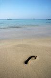 Footprint on A Beach Royalty Free Stock Image