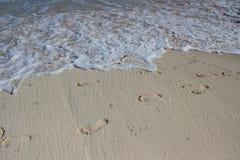 Footprint on Beach Royalty Free Stock Image