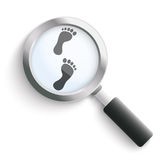 Footprint Black Loupe Stock Photos