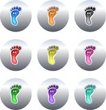 Footprint buttons Stock Image