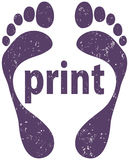 Footprint design Stock Photo