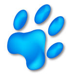 Footprint dog  Royalty Free Stock Photo