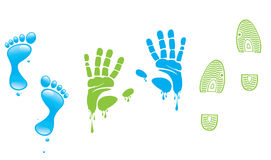 Footprint,fingerprint,. Elements pattern design Stock Photography