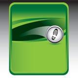 Footprint on green background Stock Photos