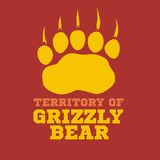 Footprint grizzly bear - vector illustration royalty free stock photos