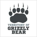 Footprint grizzly bear - vector illustration Royalty Free Stock Image