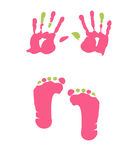 Footprint and handprint Stock Photography