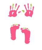 Footprint and handprint Stock Photography