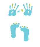 Footprint and handprint Royalty Free Stock Image