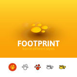 Footprint icon in different style Stock Photography