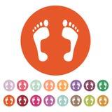 The footprint icon. foot symbol. Flat Stock Photos