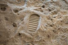 Footprint on the Moon surface