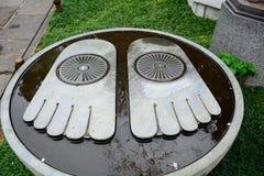 Free Footprint Of The Buddha At Hase Dera Buddhist Temple, Kamakura, Stock Images - 69711944