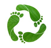 Footprint Recycle Sign Stock Image