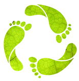 Footprint recycle sign stock illustration
