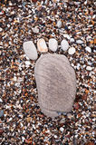 Footprint in the sand Stock Images