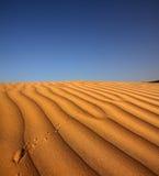 Footprint on sand dune in desert Royalty Free Stock Photo
