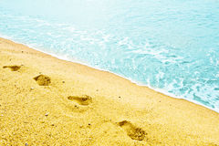Footprint on sand Royalty Free Stock Photography