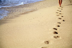 Footprint in the sand Royalty Free Stock Images