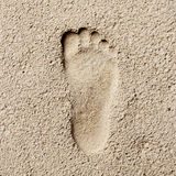 Footprint in sand, hi contrast style, stoneage Royalty Free Stock Photography