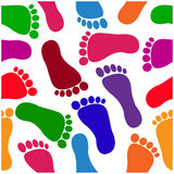Footprint seamless pattern Stock Photos