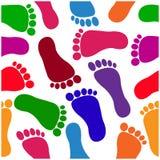 Footprint seamless pattern Stock Photos