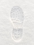 Footprint in Snow Royalty Free Stock Images