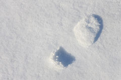 Footprint on a snow Royalty Free Stock Images