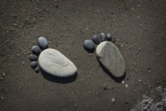 Footprint of stones Royalty Free Stock Photo