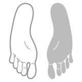 Footprint template Stock Image