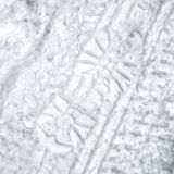 Footprint and tire tracks in the snow Royalty Free Stock Images