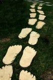 Footprint on walkway Royalty Free Stock Photography