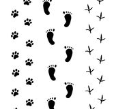 Footprint on white Stock Images
