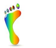 Footprint_2-color2 Stock Photo