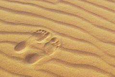 Footprints 2 Royalty Free Stock Photography