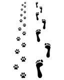 footprints ilustracji