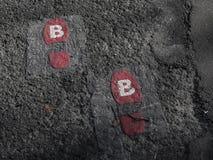 footprints Fotografia Stock