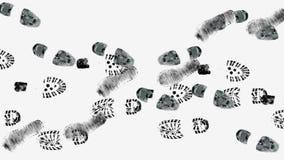 Footprints stock footage