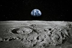 Footprints As An Evidence Of People Being On The Moon Stock Photo