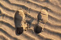 Footprints at the Beach Royalty Free Stock Photo