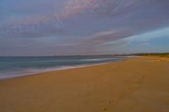 Footprints Beach Sunrise Royalty Free Stock Image