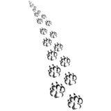 Footprints of a big dog or cat stock photos