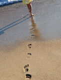 The footprints on the coast Royalty Free Stock Image
