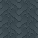 Footprints 3d seamless wallpaper. Stock Photography
