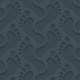 Footprints 3d seamless wallpaper. Royalty Free Stock Photos