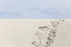 Footprints in the Desert. Footprints on a dune in White Sands National Monument in New Mexico, USA Stock Photography