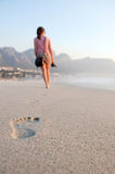 Footprints of a girl Stock Photography