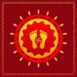Footprints of Goddess Lakshami on Diwali Royalty Free Stock Photography