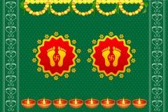 Footprints of Goddess Lakshami on Diwali. Vector illustration of footprints of Goddess Lakshami on Diwali royalty free illustration